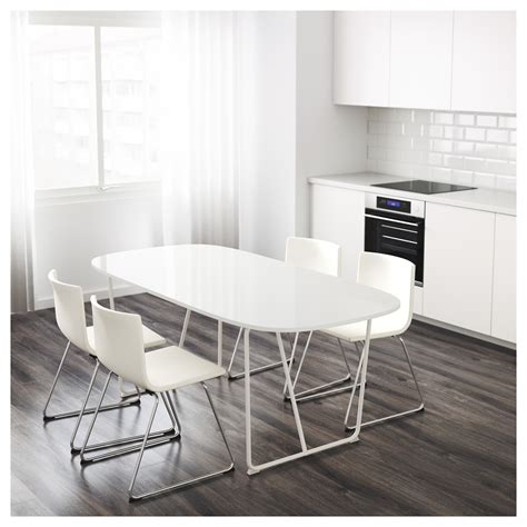 ikea white dining table oppeby table white backaryd white 185x90 cm ikea