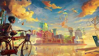 Fantasy Bicycle Desktop Wallpapers Backgrounds Mobile