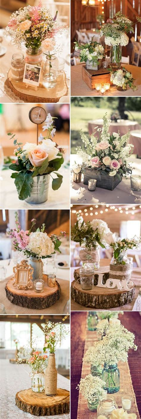 32 stunning wedding centerpieces ideas rustic wedding
