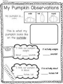 activities for kindergarten pumpkin cycle