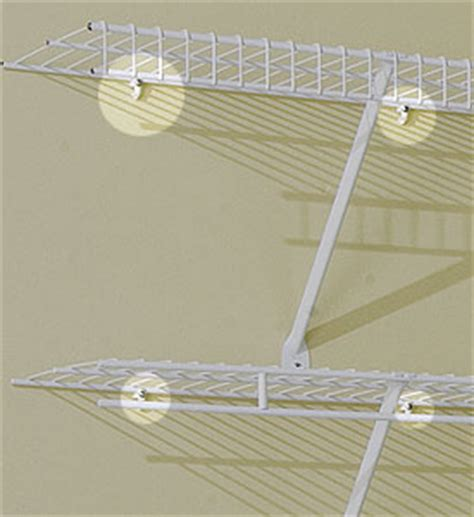 Installing Wire Shelving In Closets by Versa Clip For Wire Shelving Set Of 10 In Wire Closet