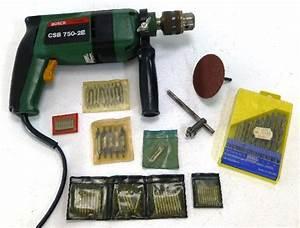 Bosch Reparaturservice Werkzeug : bosch csb 750 2e bohrmaschine 2 gang schlagbohrmaschine werkzeug mit bohrern ~ Orissabook.com Haus und Dekorationen