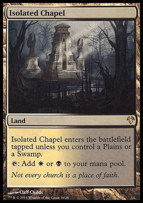 mtg deck tapped out isolated chapel mtg card
