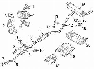 2016 Jeep Cherokee Exhaust Muffler  Muffler  U0026 Tail Pipe