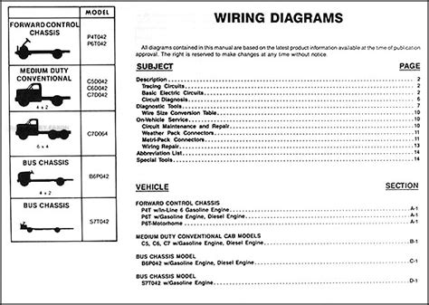 Gmc Chevy Medium Truck Wiring Diagram Manual Original