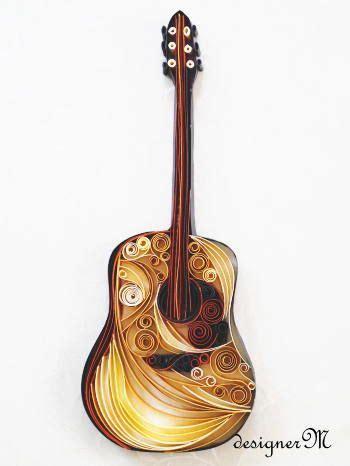acoustic guitar paper art quilling pinterest