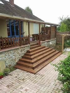 escalier exterieur en bois With extension maison en l 4 extension bois sur maison en pierre tulle vincent