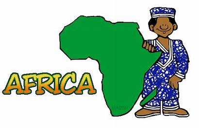 Africa Clipart Clip Tribe African Clips Map
