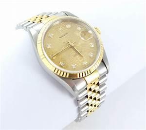 Rolex Uhr Herren Gold : rolex datejust herren uhr mit diamanten brillanten stahl gold 16233 ebay ~ Frokenaadalensverden.com Haus und Dekorationen