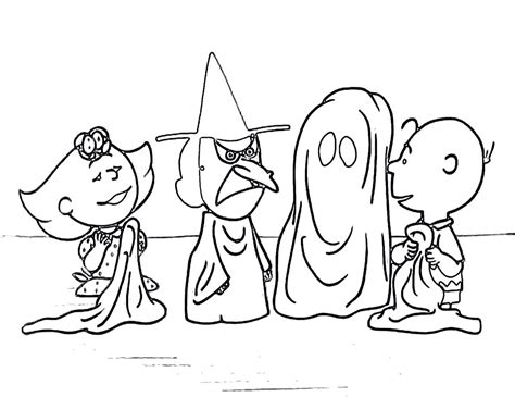 Charlie Brown Halloween Coloring Pages Collection