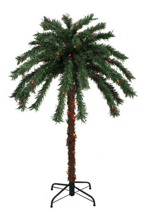 tropical lighted christmas tree 4 pre lit tropical outdoor summer patio palm tree multi color lights ebay