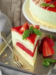 Torte Mit Erdbeeren : der erste streich oder erdbeer basilikum torte zum ~ Lizthompson.info Haus und Dekorationen