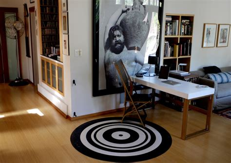 linoleum flooring los angeles linoleum circle rug modern home office los angeles by crogan inlay floors
