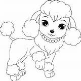 Coloring Poodle Pages Dog Printable Puppies Dogs Colouring Puppy Sheets Drawing Poodles Buzzle Adult Cartoon Toy Breeds Few Children Template sketch template