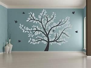 Baum An Wand Malen : wandtattoo gro er baum xxl ~ Frokenaadalensverden.com Haus und Dekorationen
