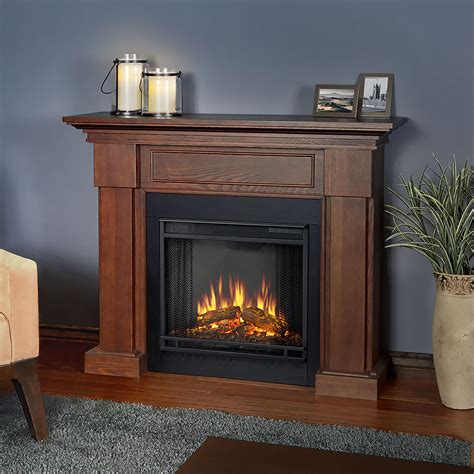 hillcrest electric fireplace mantel package  chestnut