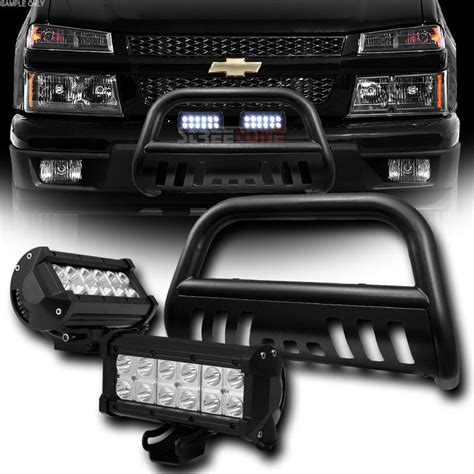 2004 2012 chevy colorado gmc black bull bar 36w