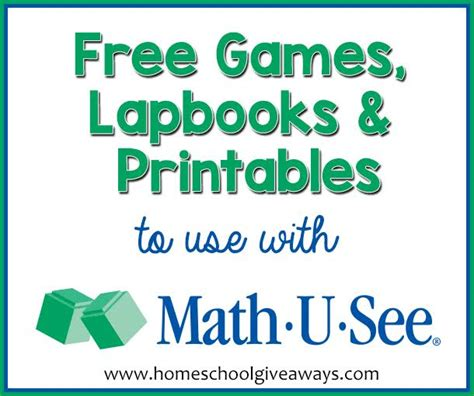 free lapbooks and printables to use with math u see