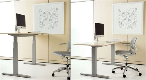 teknion chair adjust height ups and downs adjustable height work stations ispace