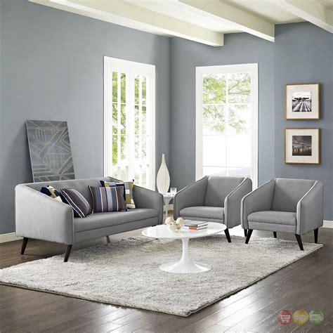 Light Grey Living Room Sets by Mid Century Modern Slide 3 Pc Sofa Armchairs Living Room