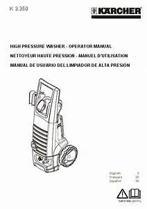 K U00e4rcher K 3 350 Electric Power High Pressure Washer Owners