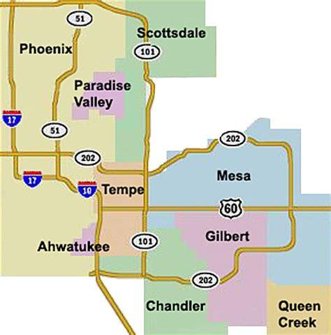 east valley phoenix map