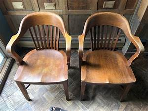 Pair, Of, Oak, Library, Chairs, Vintage, Bankers, Chair, Antique, Oak, Desk, Chair, Pair, Of, Chairs