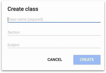 Classroom Google Create Class Button Leave Section