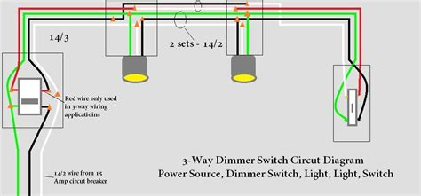Need Help Way Light Circut With Dimmer Switch
