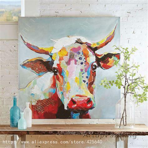 vache peinture 224 l huile sur le mur de toile animaux