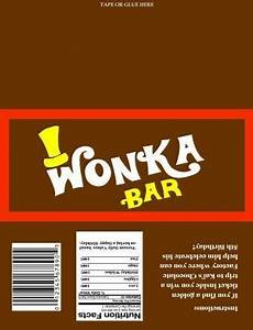 willy wonka chocolate wrapper and golden ticket With willy wonka candy bar wrapper template