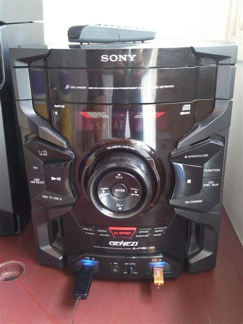 equipo sonido sony genezi impecable estado bs 249 999 000 00 en mercado libre