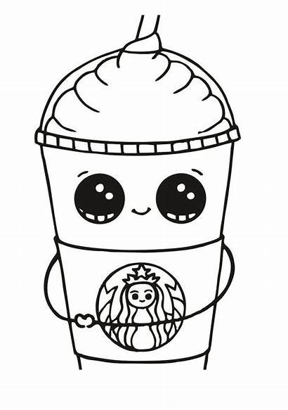 Starbucks Coloring Pages Printable Cup Frappuccino Activity