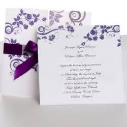 wedding invitations 1 classic purple gate fold ribbon wedding invitations ewri004 as low as 1 69
