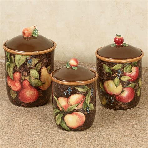 canisters kitchen decor capri fruit kitchen canister set