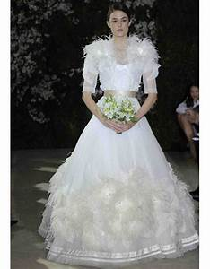 Wedding Dresses With Feather Details From Spring 2012