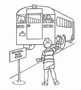Bus Coloring Pages Goodbye Educational Printable Momjunction Saying sketch template
