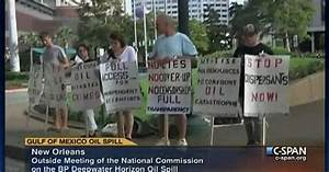 Protest Outside National Commission On Gulf Oil Spill