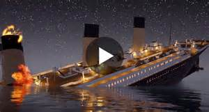 video haunting animation video shows how the titanic sunk