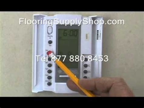 suntouch heated floor thermostat manual suntouch floorstat 500650 programing 120 volt