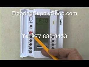 Suntouch floorstat 500650 programing 120 volt youtube for Suntouch floor warming system