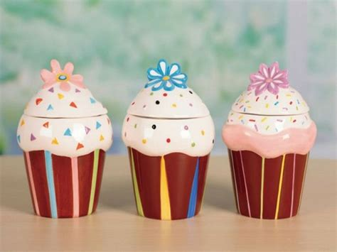 cupcake canisters for kitchen cupcake kitchen canisters decor my kitchen pinterest