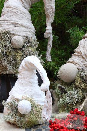 basteln mit zement wichtel aus beton diy weihnachtsdekoration wichtel aus beton diy dekorazion