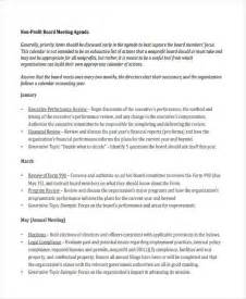 nonprofit agenda templates 6 free word pdf format With non profit board meeting minutes template