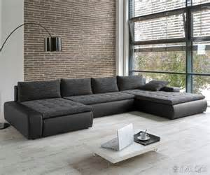sofa neu sofa prima vera 3901x195 cm schwarz grau strukturstoff bettfunktion ecksofa neu ebay
