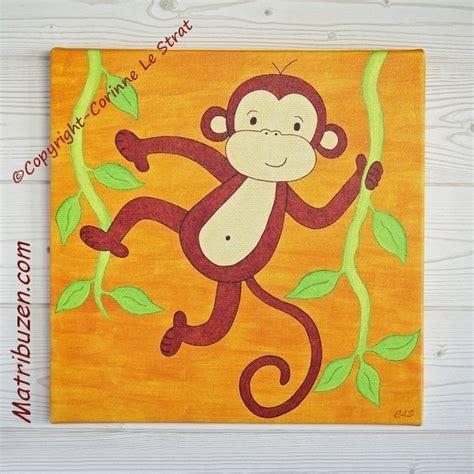 tableau chambre bebe garcon tableau petit singe de la savane un joli tableau pour la
