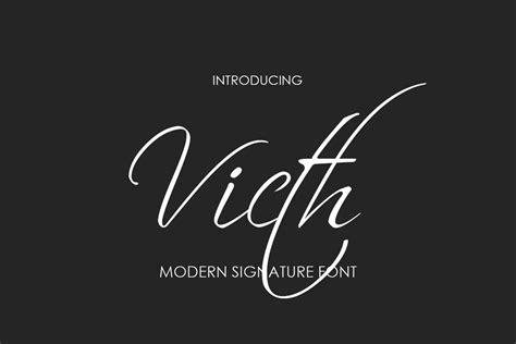 Victh Signature Font - All Free Fonts