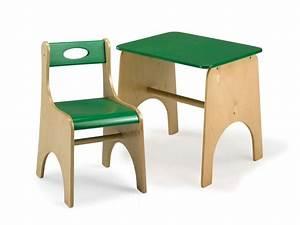 Sedia e tavolo per bambini, in legno multistrato, per area gioco e scuola IDFdesign