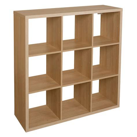 cube shelf unit form mixxit oak effect 9 cube shelving unit h 1080mm w