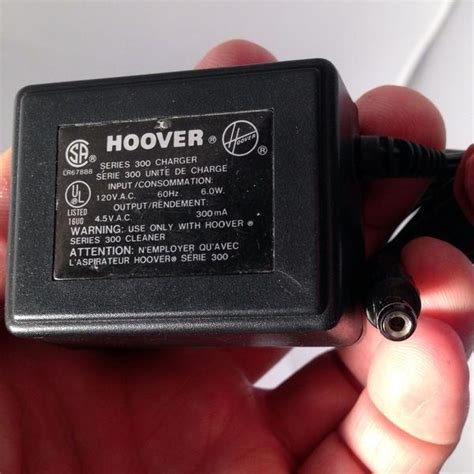 Hoover Adapter Power Supply Series 300 Vacuum Cleaner 4.5V